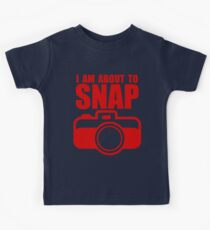 About to SNAP - RED Kids Tee