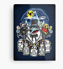 Penguin Time Metal Print