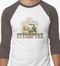 Grunge Steampunk Vintage Robot  Men's Baseball ¾ T-Shirt