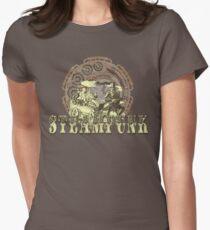 Grunge Steampunk Vintage Robot  Womens Fitted T-Shirt