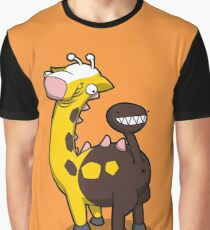 Giraffe Butt Graphic T-Shirt