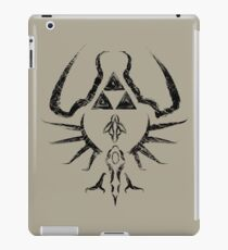 Zelda Trigram Shield - Black Edition iPad Case/Skin