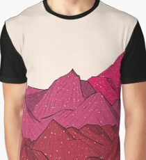 The falling snow and the mountains Graphic T-Shirt