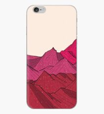 The falling snow and the mountains iPhone Case