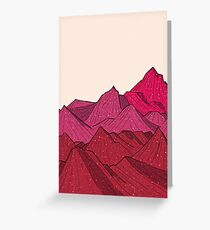 The falling snow and the mountains Greeting Card