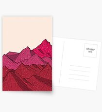 The falling snow and the mountains Postcards