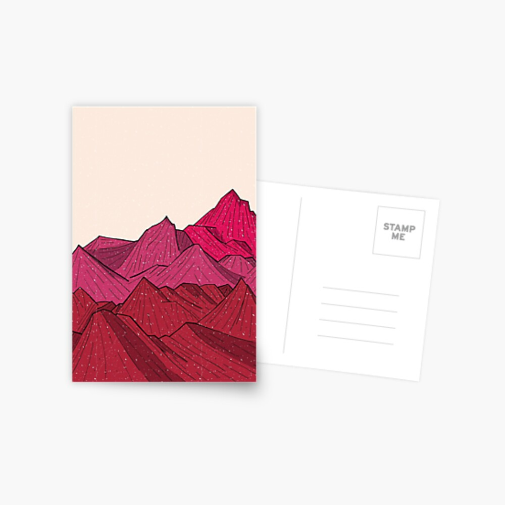 The falling snow and the mountains Postcard