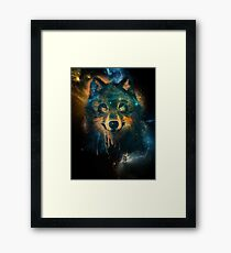 Galaxy Wolf Framed Print