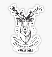 Dreaming of a whitetail Christmas - Funny Hunting Deer  Sticker