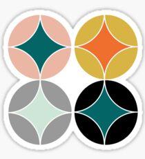 Modern Mid Century Style Pattern Sticker