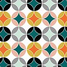 Modern Mid Century Style Pattern by Artification