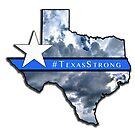 Texas Strong Map Thin Blue Line by Warren Paul Harris