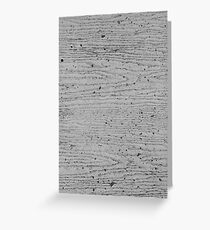 Wood Grain Concrete Texture, Horizontal 1 Greeting Card