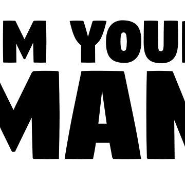 leonard cohen lyrics i'm your man cool romantic man typography music t shirts by MrAnthony88