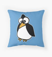 penguin penguin linux cartoon Throw Pillow
