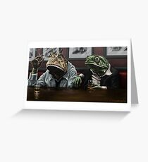 Amphibians Unwind Greeting Card