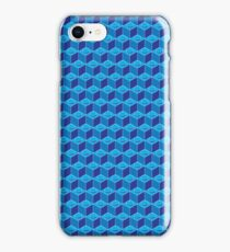 blue toy building blocks lego base board  iPhone Case/Skin