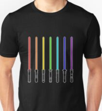 What Color is Your LightSaber Star Wars Rainbow Unisex T-Shirt