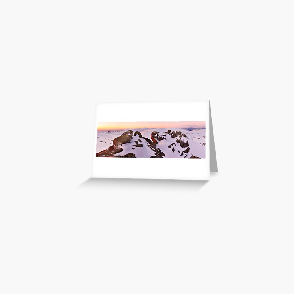 Summit from North Rams Head, Mt Kosciuszko, New South Wales, Australia Greeting Card