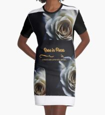 Pieces Of A Rose Graphic T-Shirt Dress