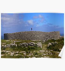 Dun Eochla Stone Fort - Inishmore Poster