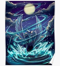 """Lugia """"Lord of the Sea"""" Pokémon Silver and Gold Poster"""