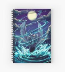 "Lugia ""Lord of the Sea"" Pokémon Silver and Gold Spiral Notebook"