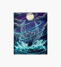 """Lugia """"Lord of the Sea"""" Pokémon Silver and Gold Art Board"""