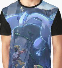 Lugia Pokemon Plata y Oro Graphic T-Shirt