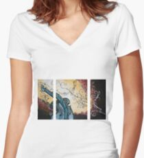 Violin Women's Fitted V-Neck T-Shirt