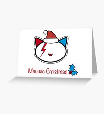 Meowie Christmas Greetings 2 Greeting Card