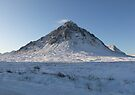 snow covered Buachaille Etive Mor  (1066 ) , the Highlands , Scotland by David Rankin