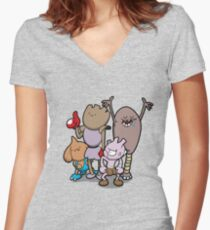 Little Asskickers Women's Fitted V-Neck T-Shirt