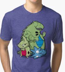 Terrific Tyrannic Dinosaurs Tri-blend T-Shirt