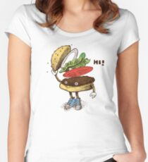 Burger Greeting Women's Fitted Scoop T-Shirt
