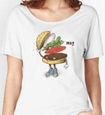 Burger Greeting Women's Relaxed Fit T-Shirt