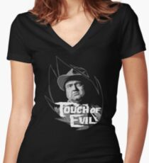 Touch of evil Orson Welles Women's Fitted V-Neck T-Shirt