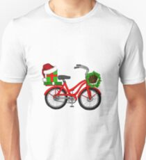 Christmas Bicycle Unisex T-Shirt