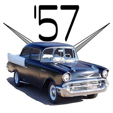 57 Chevy with Chromework Logo by seansdigitalart