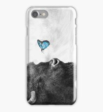 Bison and Butterfly iPhone Case/Skin