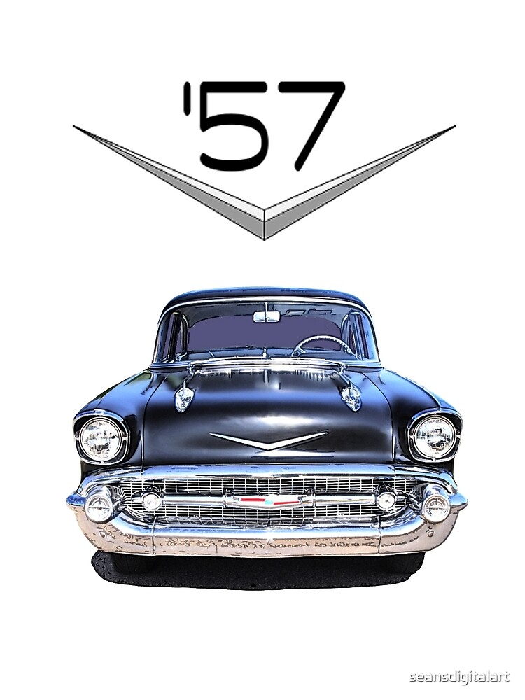 57 Chevy - Front View - Chromework Logo by seansdigitalart