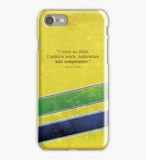 "Ayrton Senna - ""I have no idols."" iPhone Case/Skin"