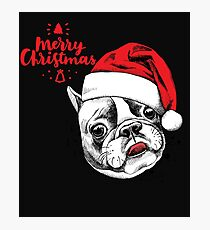 Christmas is better with a pittbull Photographic Print