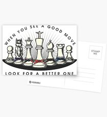 Martial Arts Chess Pieces Postcards