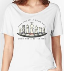 Martial Arts Chess Pieces Women's Relaxed Fit T-Shirt