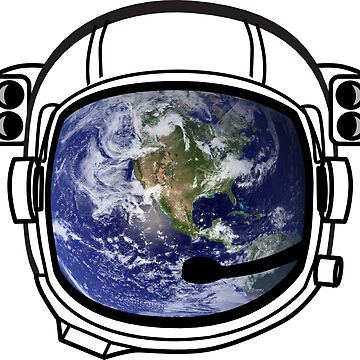 Earth Reflected in Astronaut Helmet von Upbeat