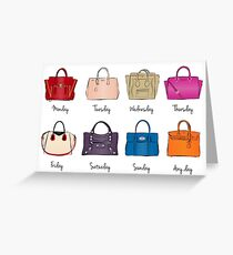Stylish Handbag Week Greeting Card