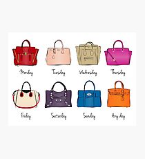 Stylish Handbag Week Photographic Print