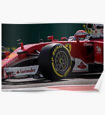 Formula 1 racing cars 2016 Sebastian Vettel  Poster