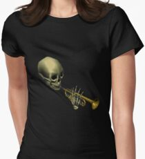 Spooky Skeltal Trumpet Women's Fitted T-Shirt
